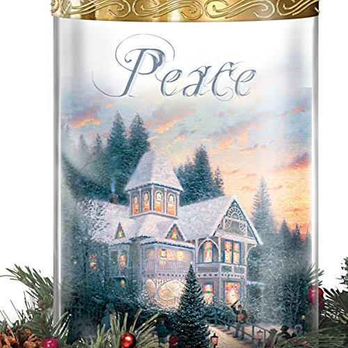 Thomas Kinkade Holiday Artwork Lighted Centerpiece with Flameless Candles by The Bradford Exchange by Bradford Exchange (Image #1)