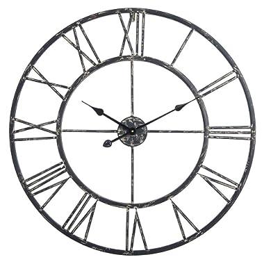 Utopia Alley Roman Wall Clock (30, Black)