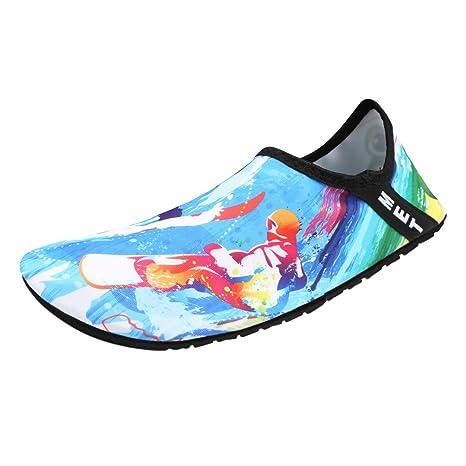 Kivors Unisex Zapatos de Agua Descalzo Zapatos de Playa Suave Calcetines de Buceo Secado Rápido Natación