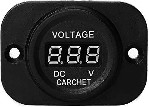 Digital Display Voltmeter Rot Led Voltanzeige Spannungsanzeige 12v 24v Neu Auto