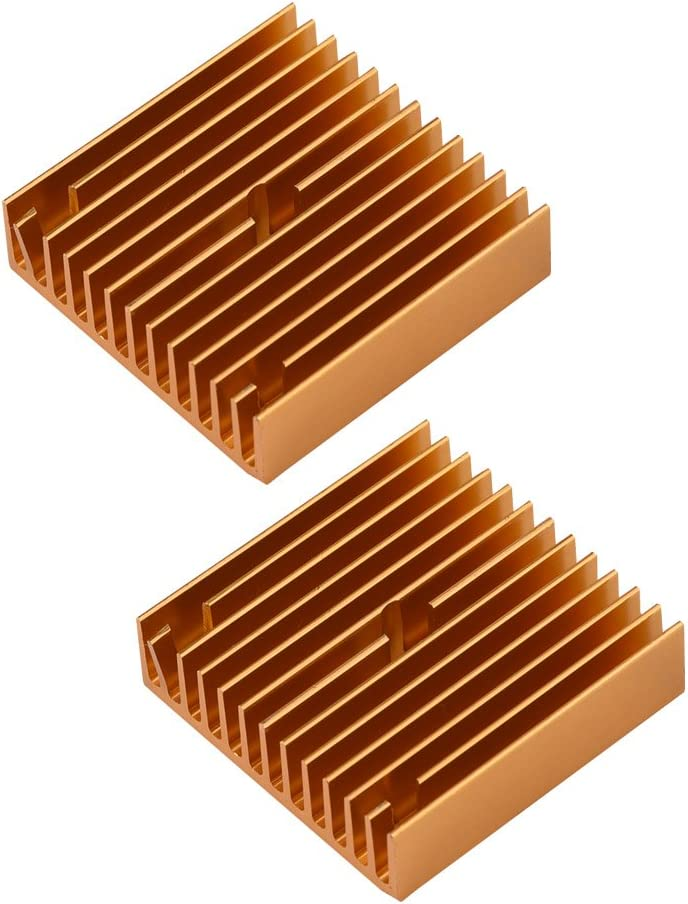 Richer-R Extruder Cooling Fin, 3D Printer Accessories Heat Sink MK7/MK8 Extruder Cooling Fin for Makerbot, Light Weight and Strong Stability Easy to Assemble and Disassemble