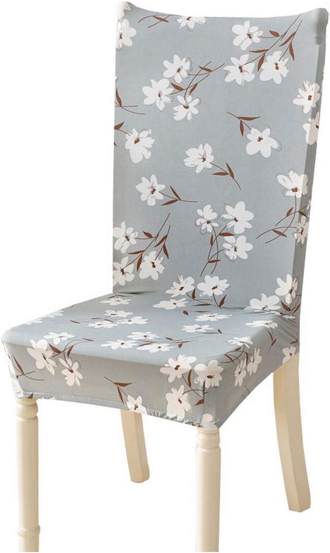 Cheryl Norri Fundas para sillas con Estampado de Flores Spandex Stretch Fundas elásticas Funda para Silla extraíble Universal para Cocina Comedor Banquete 6 Universal