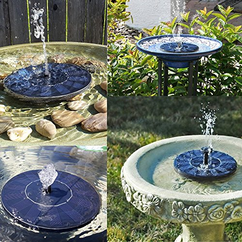 Weanas Outdoor Mini Solar Powered Floating Fountain Pool