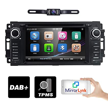 Hizpo Car Stereo Gps Dvd Player For Dodge Ram Challenger Jeep Wrangler Jk Head Unit Single Din 6 2 Touch Screen Indash Radio Receiver With