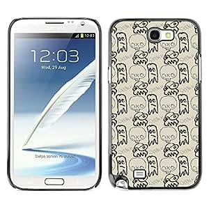 iKiki-Tech Estuche rígido para Samsung Galaxy Note 2 N7100 - Sketchy Skull