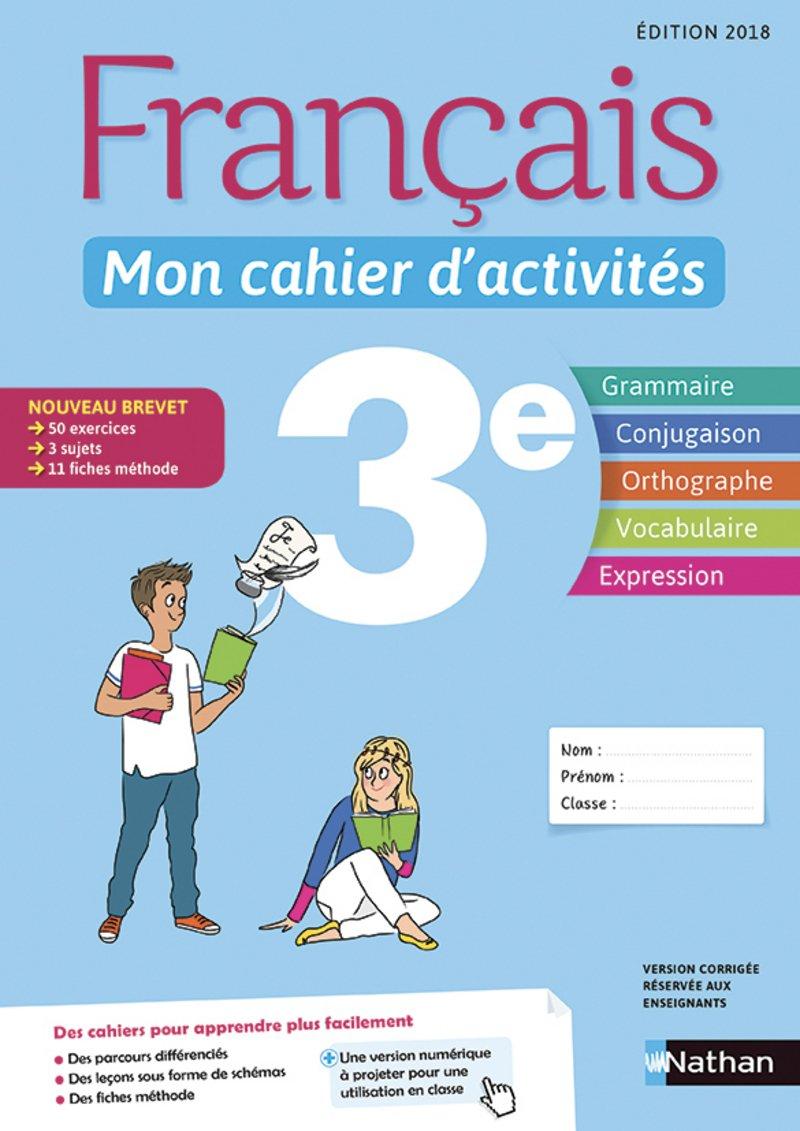 Francais Mon Cahier D Activites 3e Telecharger Lire En Ligne