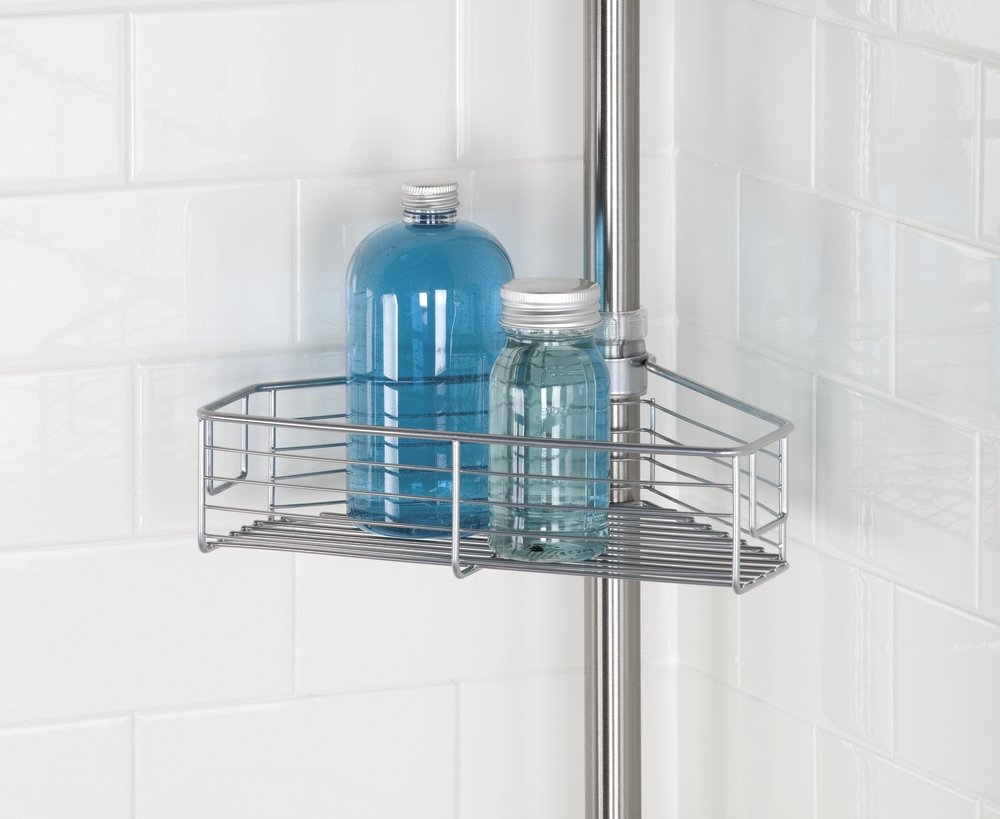 Amazon.com: mDesign Standing Bathroom Shower Caddy Station for ...
