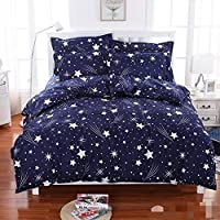 King Size 3 Pc Bedding Set - 1500 Series Hypoallergenic Wrinkle Free Bed Linens Exclusive Design Double Bedsheet |Includes 2 King Size Pillows Covers||1 Flat Bed Sheet 90x100 Inch (Indian Quality Collection)-Multi-Color