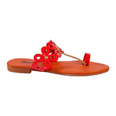 cbb4ccc84 Lush Red Women's Fashion Sandals for Women|Flats for Women|Flat Sandals for  Girls|Casual Flats Footwear: Buy Online at Low Prices in India - Amazon.in