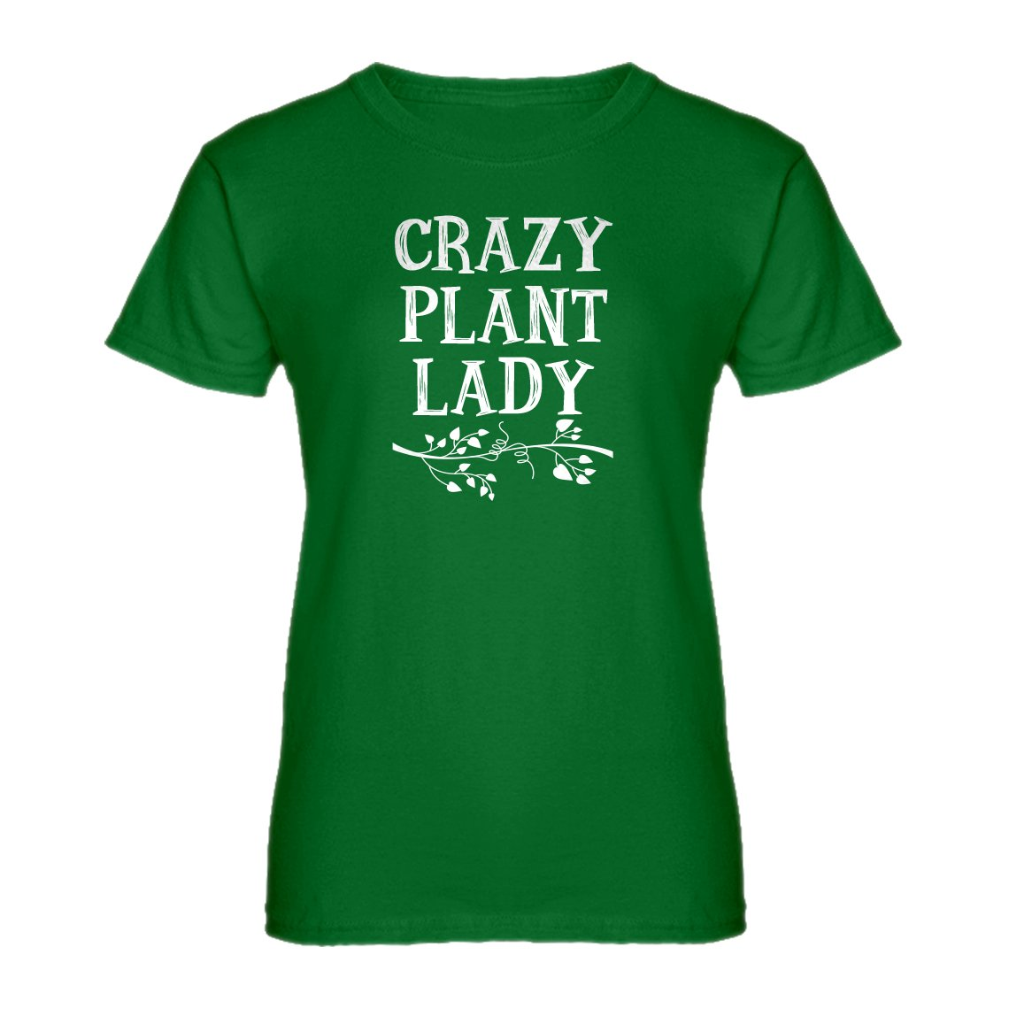 Indica Plateau Crazy Plant Lady Womens T-Shirt 3270-W