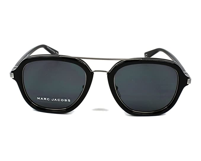Amazon.com  Sunglasses Marc Jacobs 172 S 0284 Black Ruthenium IR gray blue  lens  Clothing a3db44a271f1