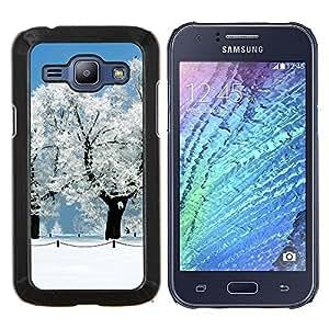 Qstar Arte & diseño plástico duro Fundas Cover Cubre Hard Case Cover para Samsung Galaxy J1 J100 (Blanca Nieve Forrest)