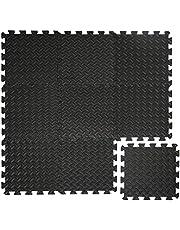 EYEPOWER 0,8 m² 9-delige set vloerbeschermingsmatten 30x30x1 fitness vloermat beschermende mat