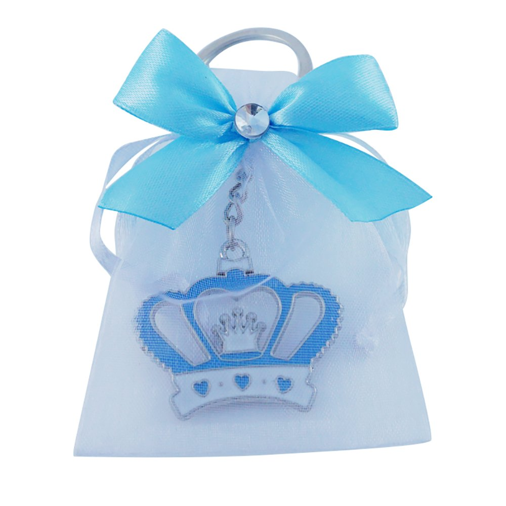 Amazon.com: Crown Keychain Baby Boy Shower Favor Blue 12PCS ...