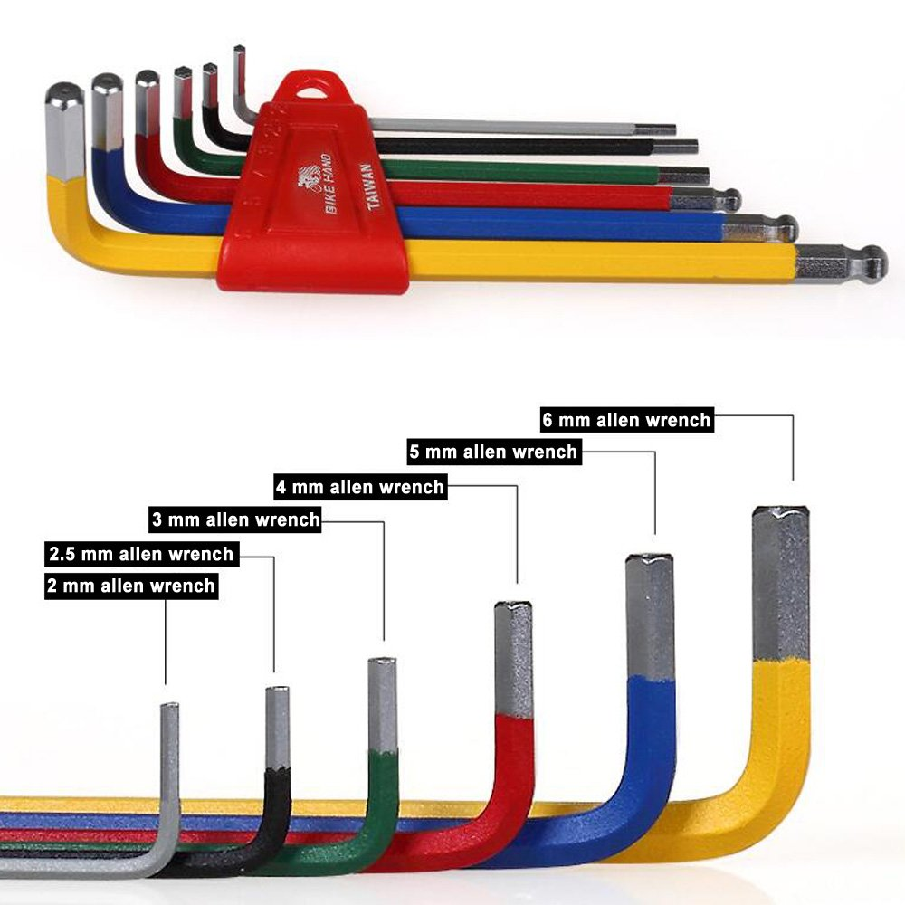 Acekit Bikehand Bicycle Tool Set Allen Wrench With Ball Ends And Holder (2 2.5 3 4 5 6mm) by Bikehand (Image #2)