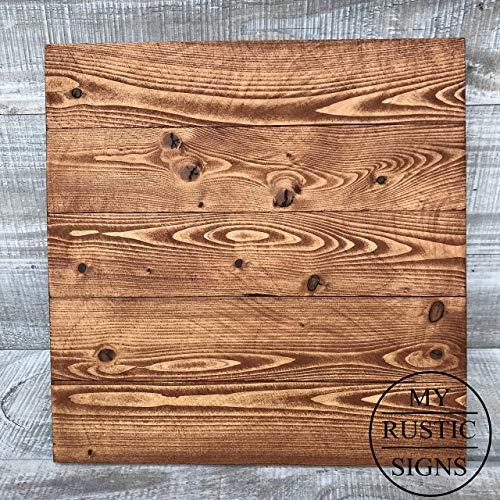 Rustic Wood Sign Blank | American Walnut | Wedding Sign | 100% Handmade by My Rustic Signs ()