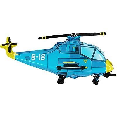 37 Pouces hélicoptère bleu en forme de feuille ballon (CS67)