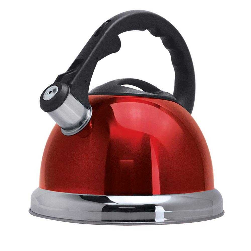 Primula Safe-T Whistling Tea Kettle, Red