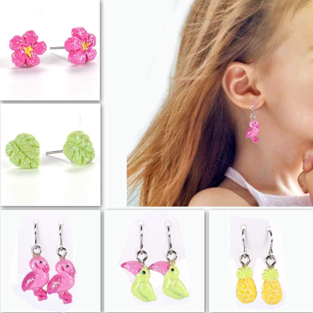 GOTONE Boucles doreilles en acier inoxydable pour enfants boucles doreilles pendantes pour petites filles motif biscuits