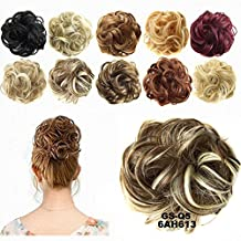 FESHFEN Scrunchy Scrunchie Hair Bun Updo Hairpiece Ponytail Hair Extensions Wavy Curly Messy Hair Bun Extensions Donut Chignons Hair Piece Wig-6AH613