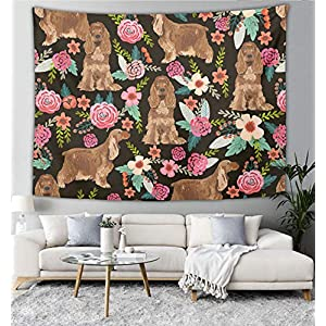 NiYoung Cocker Spaniel Wall Hanging, Psychedelic Wall Art, Dorm Décor Beach Throw, Indian Wall Tapestries Art 60 x 90 Inches 7