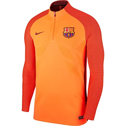 a4af32335fb Nike Men s Barcelona Strike Drill Top 1 4 Soccer Zip Jacket (Small) Hyper