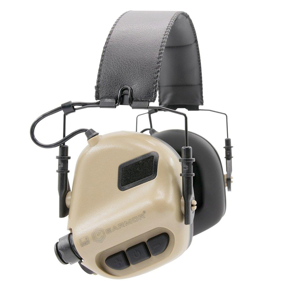OPSMEN M31-MOD1 Sound Amplification Gun Shooting Noise Canceling Hearing Sport Protection Electronic Earmuff Classic Tan Desert