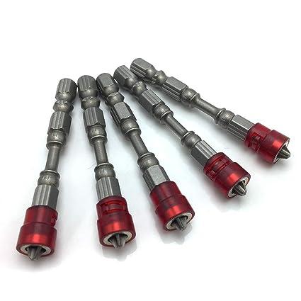 5 puntas de destornillador PH2 para yeso eléctrico, acero ...
