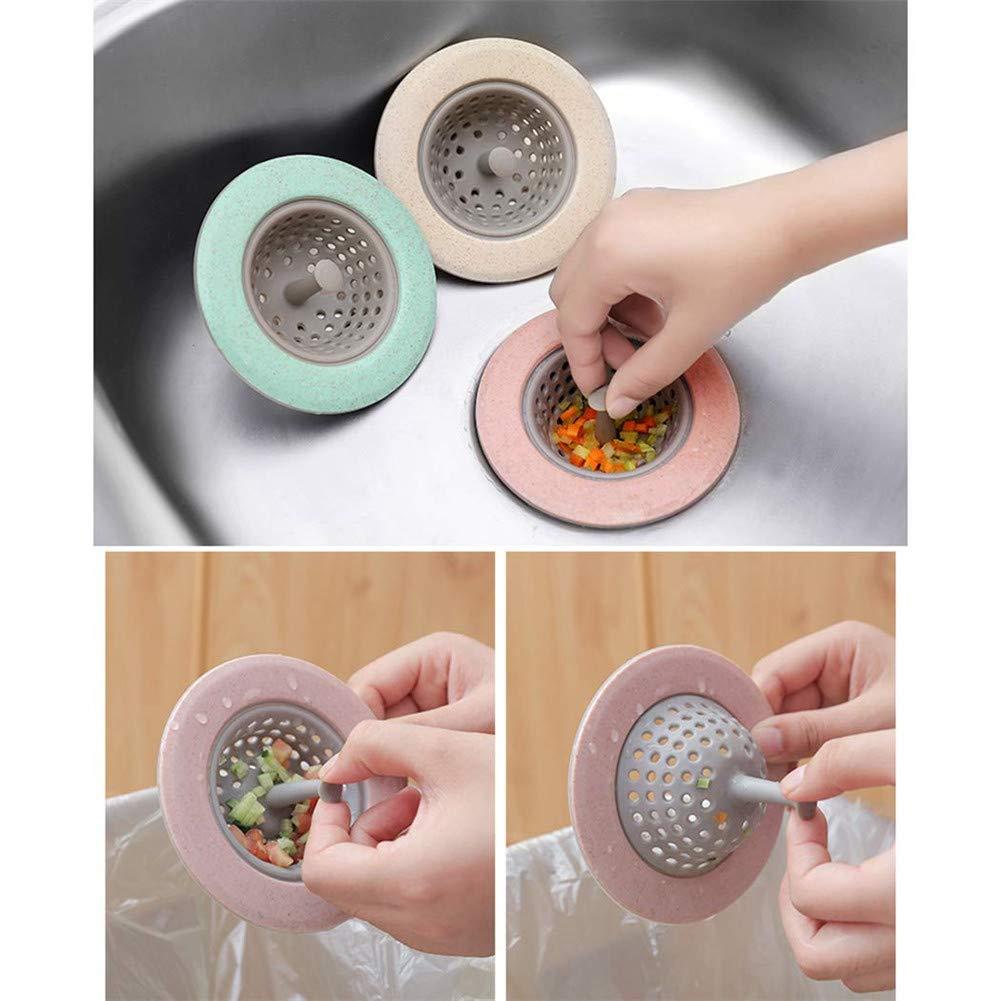 Filtro per Scarico 2pcs Gray,White Filtro per Scarico per Cucina Filtro per lavello della Cucina Filtro per Scarico della Doccia Bagno ASLEAK Set di filtri per lavandino