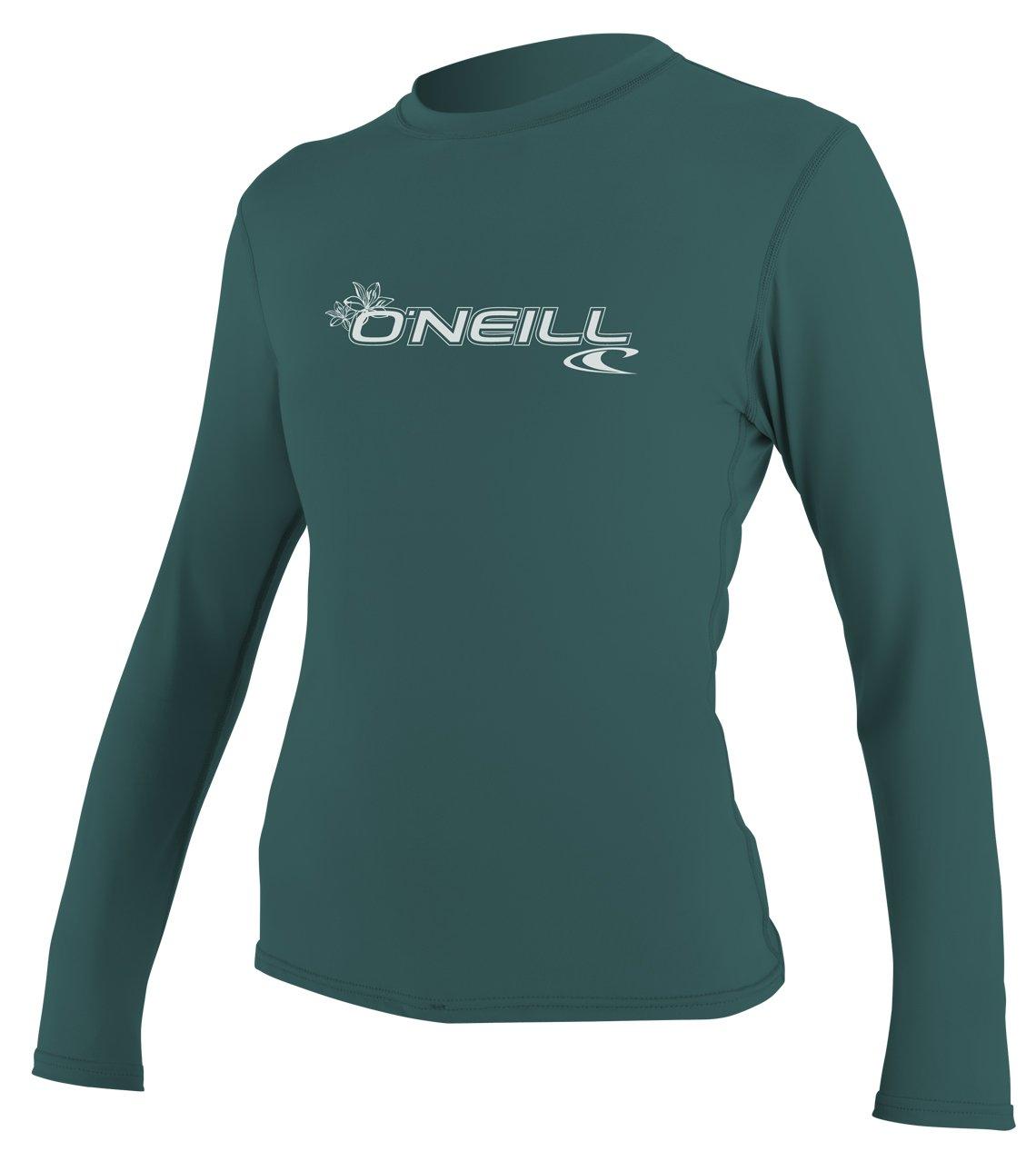 O'Neill Women's Basic Skins Upf 50+ Long Sleeve Sun Shirt, Deep Teal, Small
