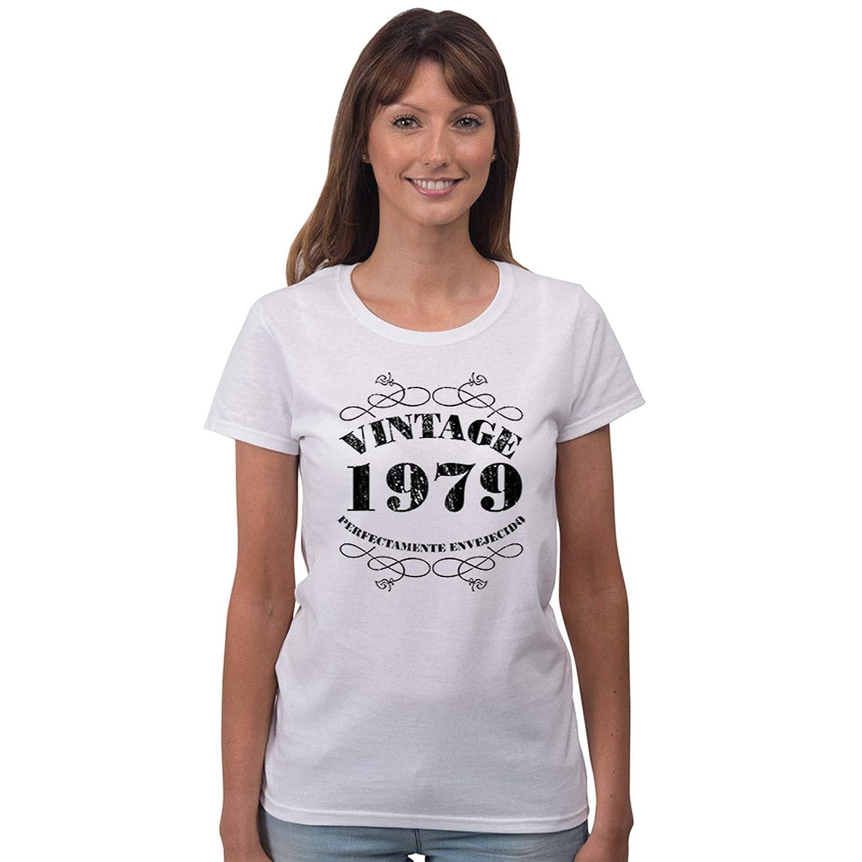Camiseta Vintage 1979 de Mujer para Celebrar el 40 ...