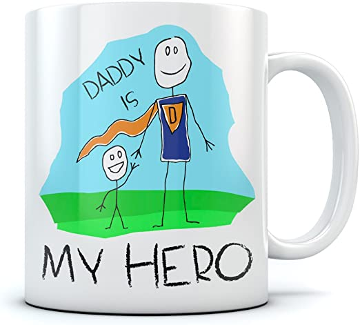 Dad Ceramic Decor Dad You are My Hero 4 x 4 Inch valentines Day Gift For Dad
