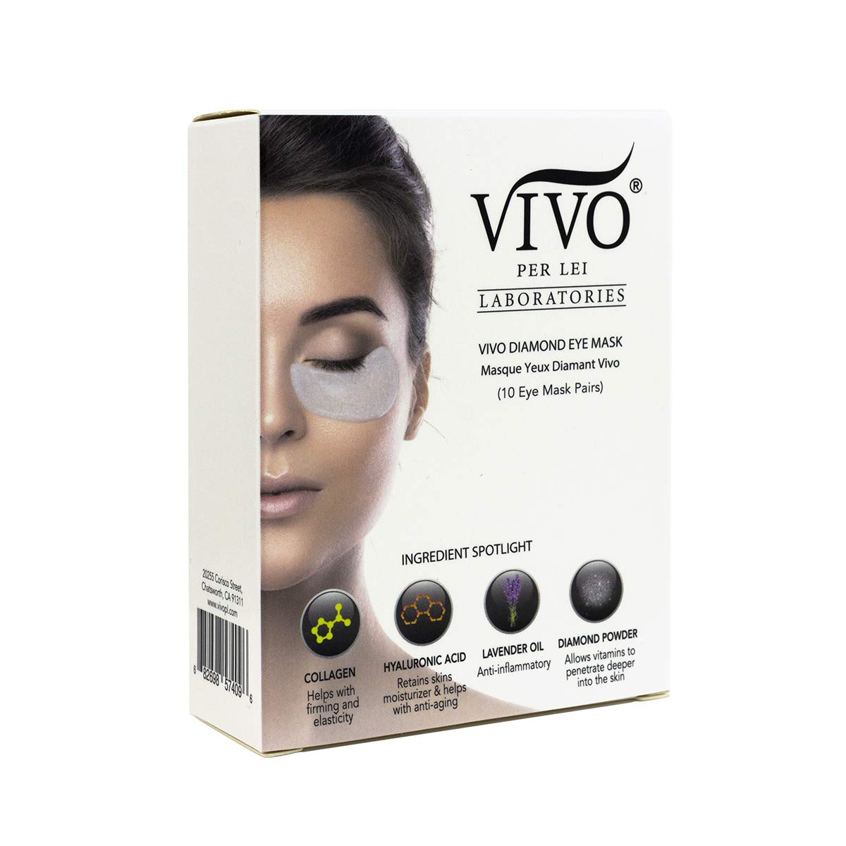 Vivo Per Lei Diamond Under Eye Patches | Collagen Eye Mask & Dark Circles Mask | Let Your Eyes Talk with this Anti Aging Under Eyes Bag Treatment | Collagen Eye Patch with Diamond Powder | Set of 10 by Vivo Per Lei (Image #8)