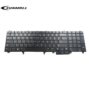 SUNMALL Replacement Keyboard with (Pointer and Backlight) for Dell Latitude E5520 E5520m E5530 E6520 E6530 E6540 Precision M4600 M4700 M6600 M6700 Laptop US Layout