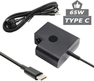 925740-002 USB Type-C Ac Adapter for HP Spectre x360 13-AE015DX,Elite x2 1012 G2 Elitebook X360 1030 G3,Hp Pro x2 612 G2 65W USB-C Portable Charger