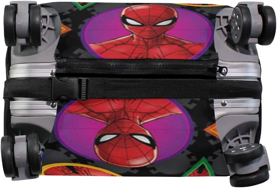 Spiderman Faces Cartoon Cute Funny Travel Luggage Cover Suitcase Protector Fits 26-28 Inch Washable Baggage Covers