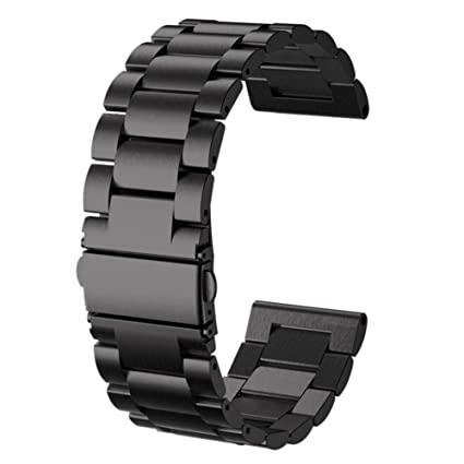 for ZeTime 44mm Bands Black Large Small Metal,CIDETTY Replacement Watchbands 22mm Metal Stainless Steel Bracelet Strap for MyKronoz ZeTime 44mm ...