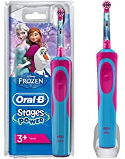 Oral-B Stages Power Kids Electric Toothbrush Featuring Frozen Characters, 1 Handle, 1 Brush Head, UK 2 Pin Plug