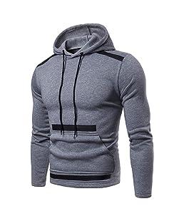 Siviki Mens Fashion Slim Fit Long Sleeve Hoodie Hooded Sweatshirt Tops Jacket Coat Hot