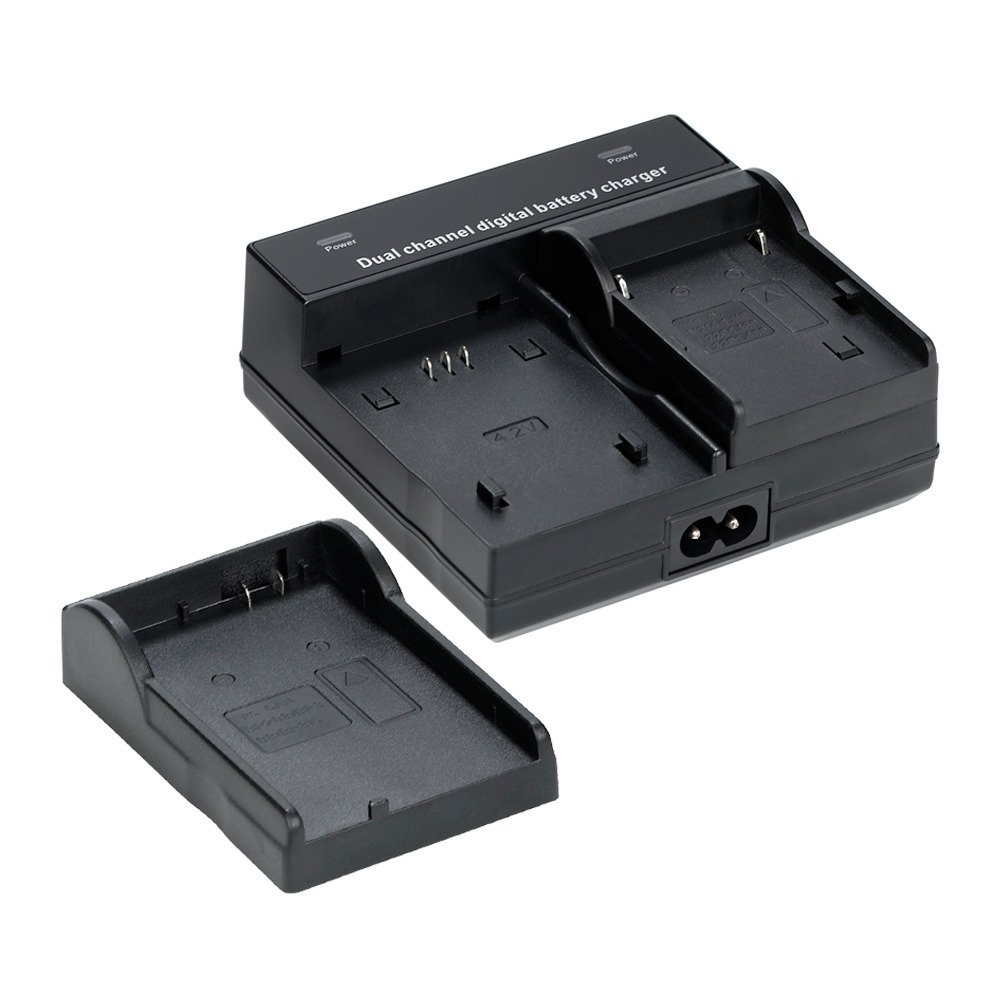 Camera battery dual charger for Sony NEX-VG30H NEX-VG900 Full HD Interchangeable Lens Camcorder by Unknown