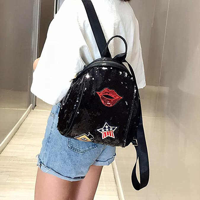 Amazon.com: Mochila con lentejuelas para mujer, bolsa ...