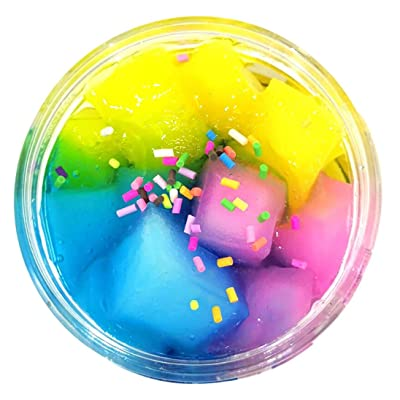 Livoty Beautiful Color Mixing Cloud Slime Flaky Clouds Mud Putty Scented Stress Kids Clay Toy 60ml (Rainbow): Sports & Outdoors