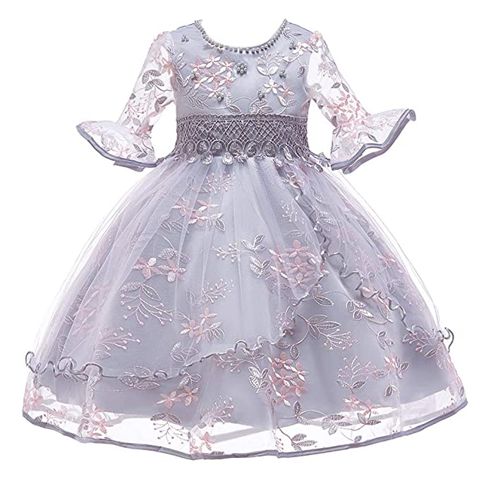03a824d18 Amazon.com  OBEEII Little Big Girl Flower Embroidered Beads Tutu ...