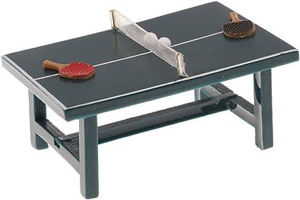 Dollhouse miniature table tennis set 1:12 scale
