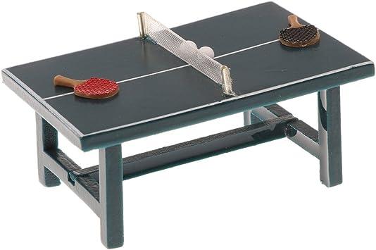 Amazon.es: Gazechimp 1/12 Juguete Mini Mesa de Tenis Bat y Bolas Juegos en Miniatura de Dollhouse: Juguetes y juegos