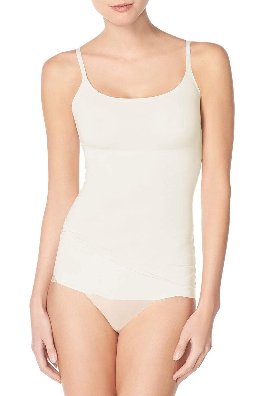 Colore: Bianco Sporco con Spalline Regolabili Senza Maniche Hulara Canottiera da Donna in Morbido Cotone Biologico