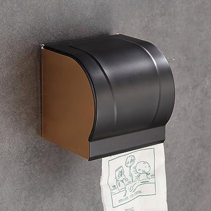 QETU Sostenedor del Papel Higiénico del Retrete, Caja Impermeable del Papel del Volumen del Aluminio