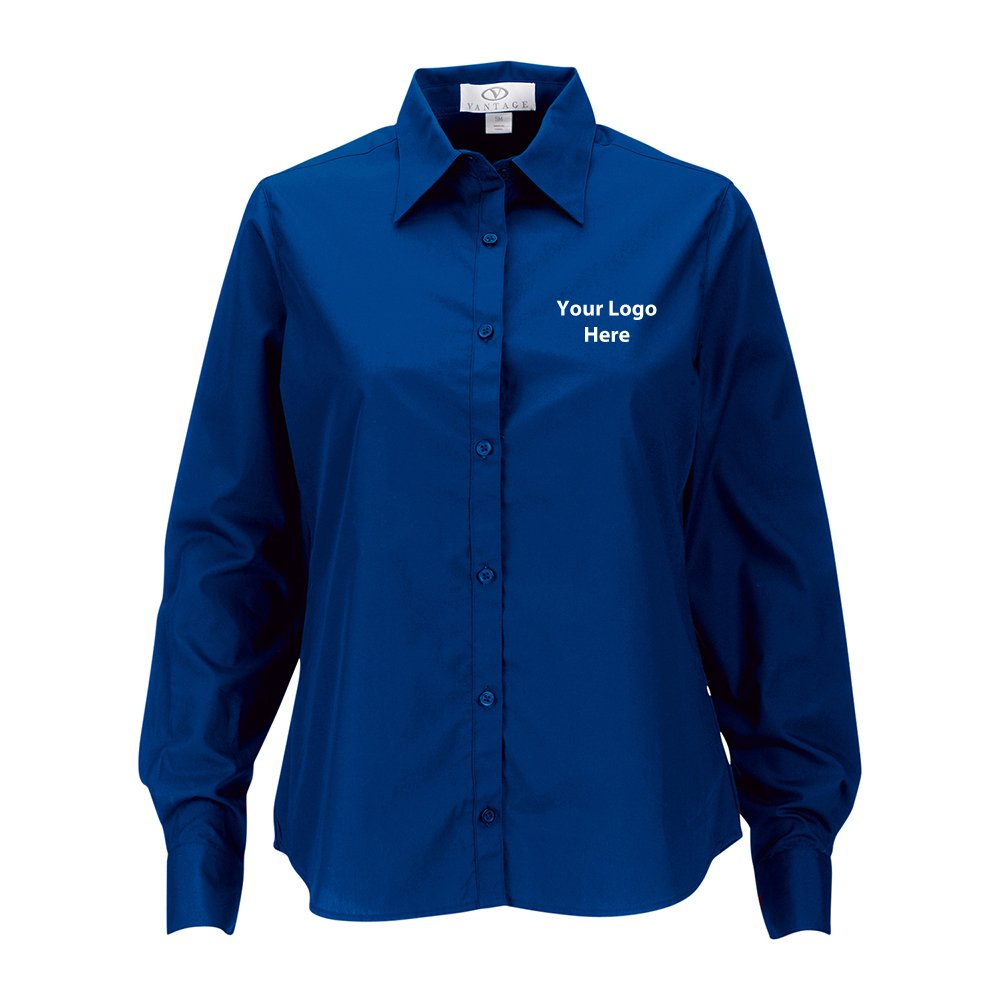 Women Blended Poplin Shirt - 12 Quantity - $34.45 Each - BRANDED/CUSTOMIZED by Sunrise Identity