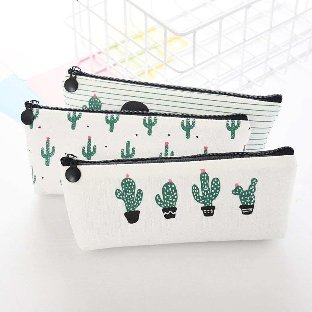 ToGames Cactus fresco y encantador Estuche de l/ápices de gran capacidad Estuche de l/ápices con cremallera para estudiantes Material de oficina escolar Papeler/ía de regalo