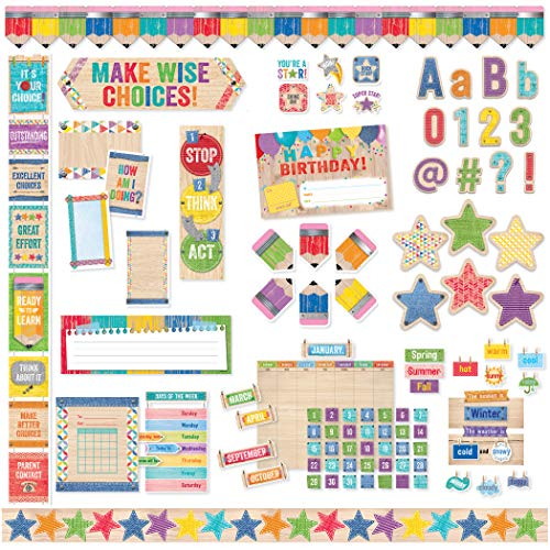 Denim Calendar Chart - Creative Teaching Press CTP8880 Upcycle Style Classroom Collection (Pack of 563)